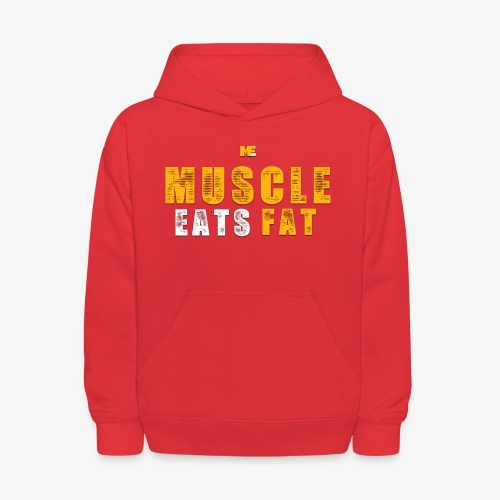 Muscle Eats Fat (Royal Yellow) - Kids' Hoodie