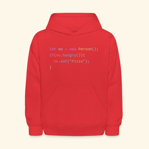 Pizza Code - Colored Version - Kids' Hoodie