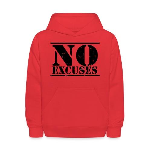 No Excuses training - Kids' Hoodie