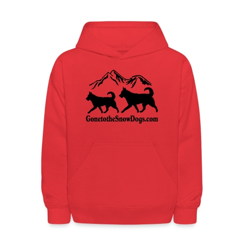 Snow Dogs with Mountain - Kids' Hoodie