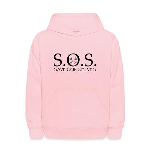 SOS Black on Black - Kids' Hoodie