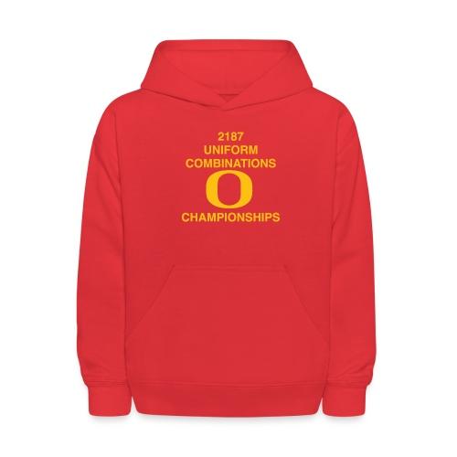 2187 UNIFORM COMBINATIONS O CHAMPIONSHIPS - Kids' Hoodie