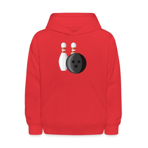 Bowling Ball and Pins - Kids' Hoodie