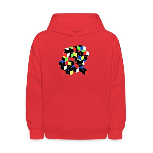 Optical Illusion Shirt - Cubes in 6 colors- Cubist - Kids' Hoodie
