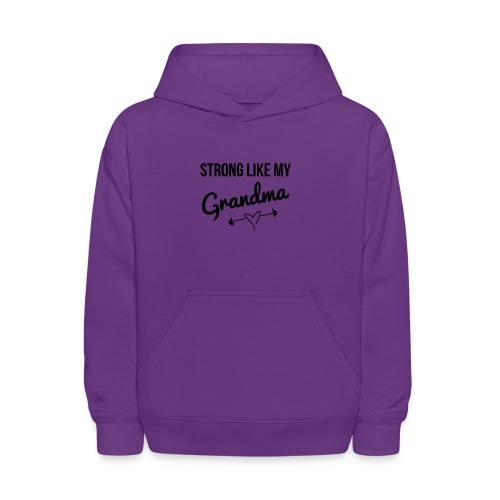 strong like my grandma (black) - Kids' Hoodie