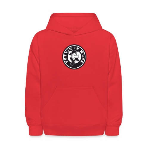Solid Puttin' In Work Logo - Kids' Hoodie