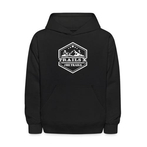 10x10 TrailsX Logo-White - Kids' Hoodie