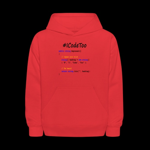 #ICodeToo coding diversity statement shirt - Kids' Hoodie