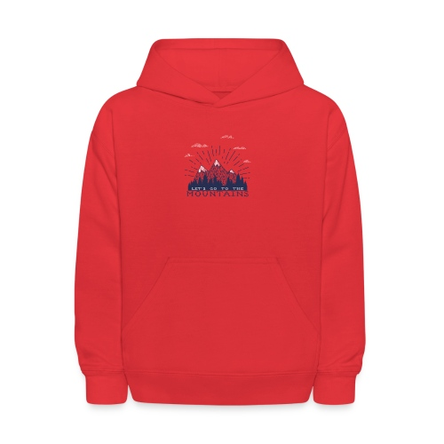 Adventure Mountains T-shirts and Products - Kids' Hoodie