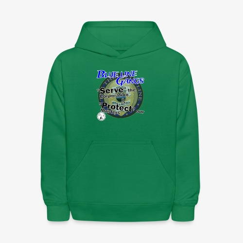 Thin Blue Line - To Serve and Protect - Kids' Hoodie