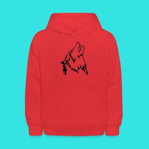 Wolf (back) - Kids' Hoodie