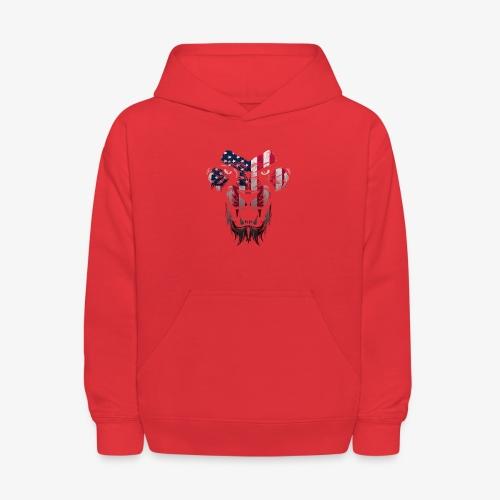 American Flag Lion Shirt - Kids' Hoodie