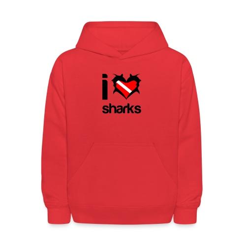 I Love Sharks - Kids' Hoodie