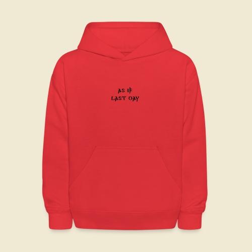 inspi shirt-1: as IF last day (black) - Kids' Hoodie