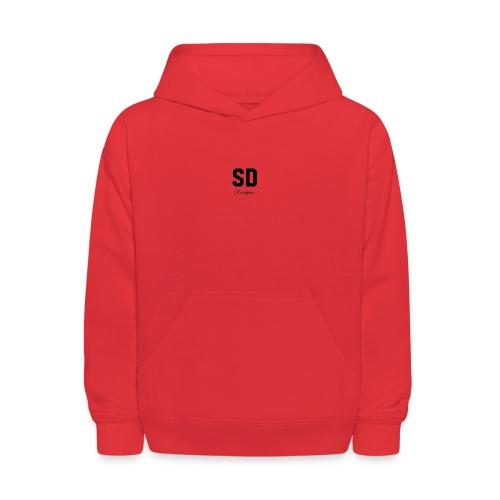 SD Designs blue, white, red/black merch - Kids' Hoodie