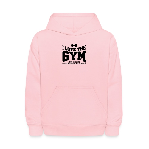 I love the gym - Kids' Hoodie