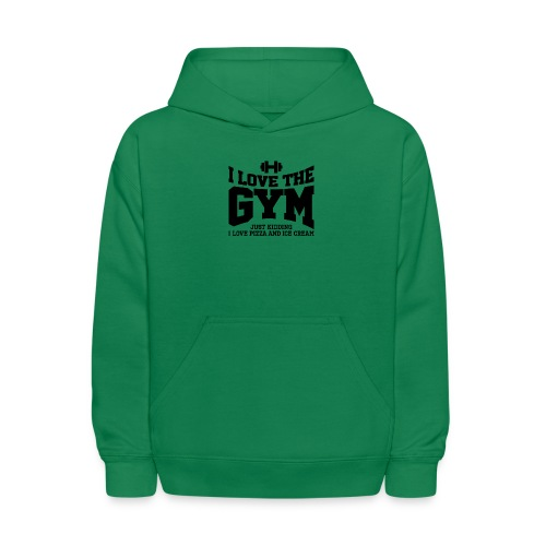 I love the gym - Kids' Hoodie