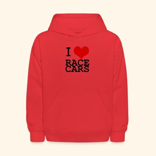 I Love Race Cars - Kids' Hoodie