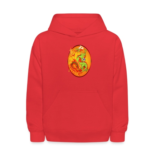 New Year Dragon and Symbol Oval - Kids' Hoodie