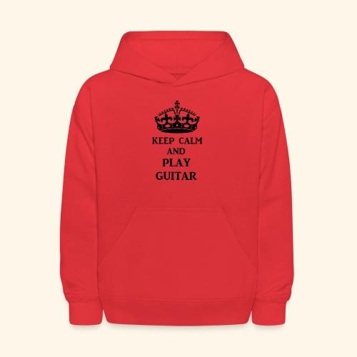 keep calm play guitar blk - Kids' Hoodie