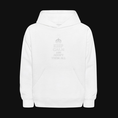 KEEP CALM2 white - Kids' Hoodie