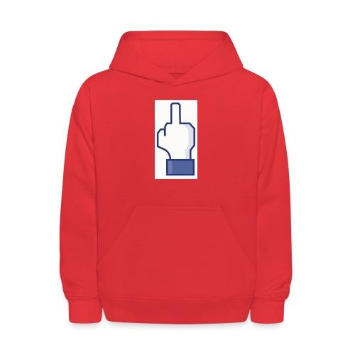 facebook middle finger di - Kids' Hoodie