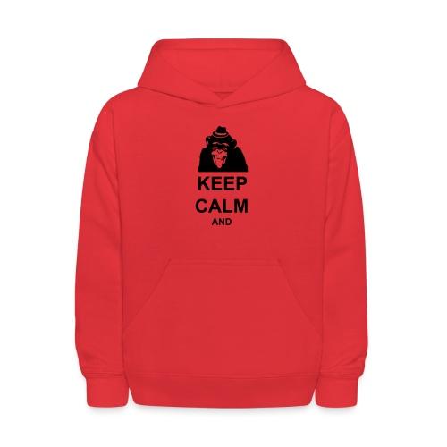KEEP CALM MONKEY CUSTOM TEXT - Kids' Hoodie