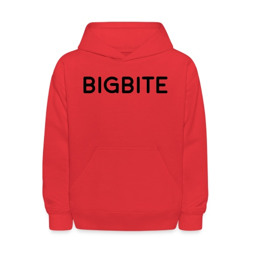 BIGBITE logo red (USE) - Kids' Hoodie