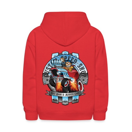 Custom Speed Shop Hot Rods and Muscle Cars Illustr - Kids' Hoodie