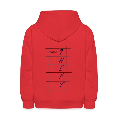 Taxation is Theft Crossword - Kids' Hoodie