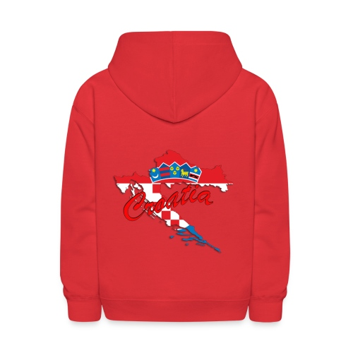 Croatia Football Team Colours T-Shirt Treasure Des - Kids' Hoodie