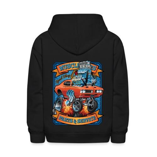 Classic Sixties Muscle Car Parts & Service Cartoon - Kids' Hoodie