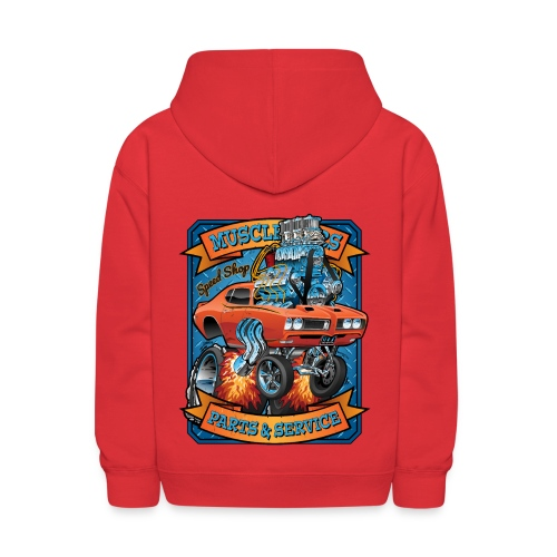 Classic Sixties Muscle Car Parts & Service Cartoon - Kids' Hoodie