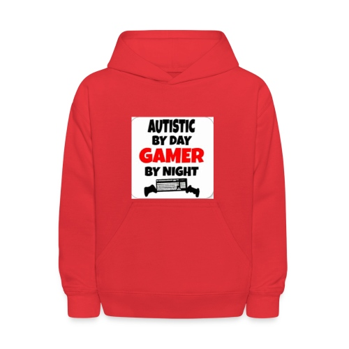 Autistic By Day Gamer By night - Kids' Hoodie
