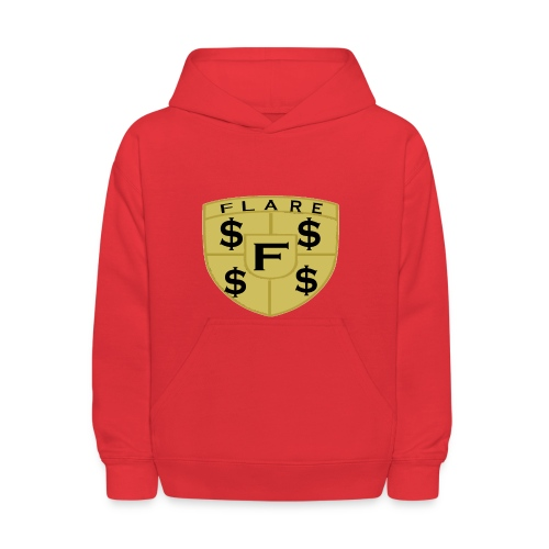 FLARE Shield Logo - Kids' Hoodie