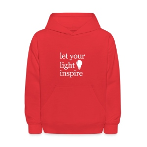 Let Your Light Inspire Tee (white font) - Kids' Hoodie