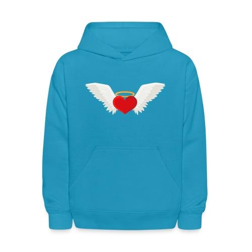 Winged heart - Angel wings - Guardian Angel - Kids' Hoodie