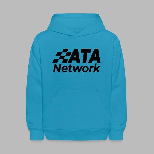 ATA Network Black Stacked Logo - Kids' Hoodie
