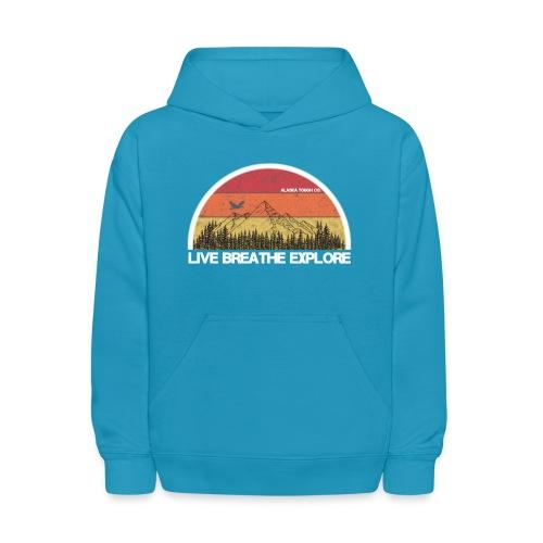 Live Breathe Explore Mountain - Kids' Hoodie