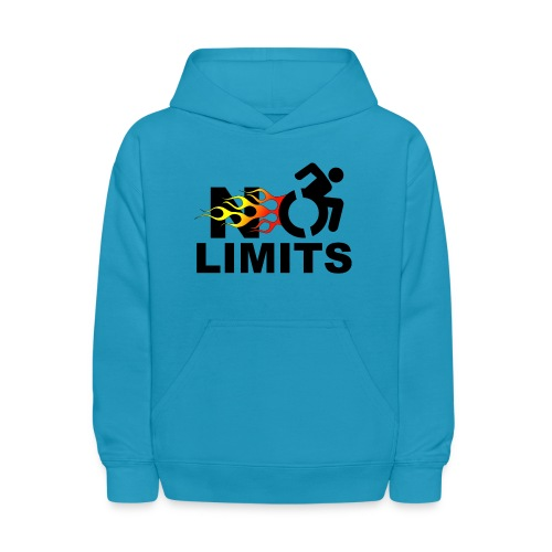 No limits for me with my wheelchair - Kids' Hoodie