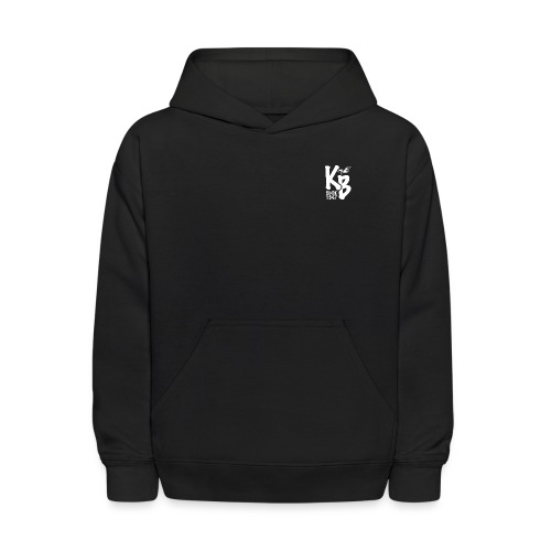 Kure Beach Sunrise-White Lettering-Front and Back - Kids' Hoodie