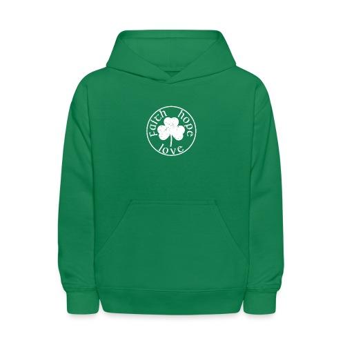 Irish Shamrock Faith Hope Love - Kids' Hoodie