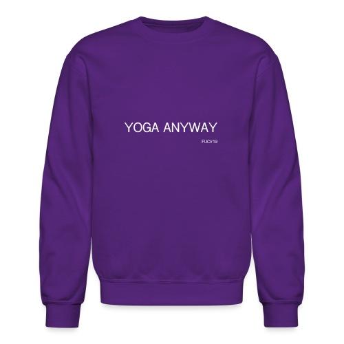 YOGA WHITE font - Unisex Crewneck Sweatshirt