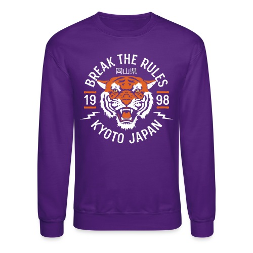 tiger kyoto japan - Unisex Crewneck Sweatshirt
