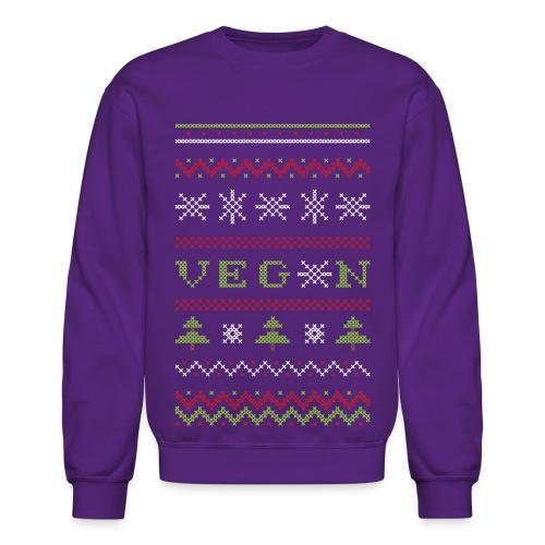 Veg*n Ugly Sweater Women's Wideneck Sweatshirt - Crewneck Sweatshirt