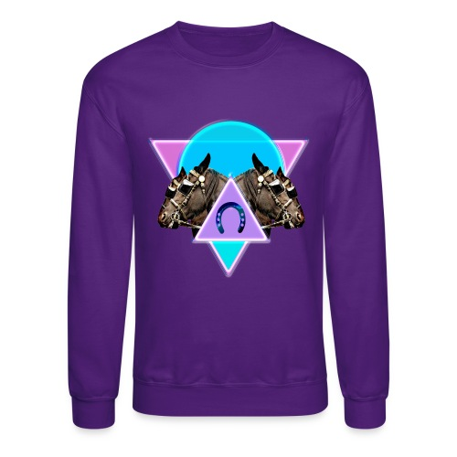 Neon Horses print - Unisex Crewneck Sweatshirt