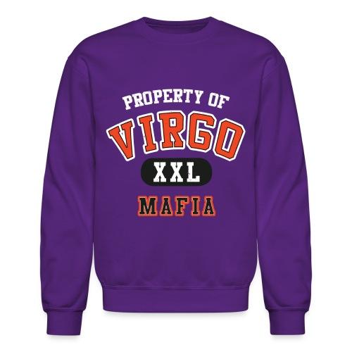 virgo mafia white design on purp - Crewneck Sweatshirt