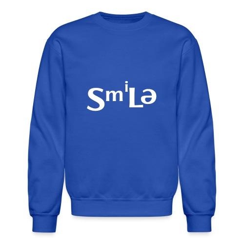 Smile Abstract Design - Crewneck Sweatshirt