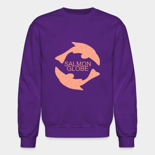 Salmon Globe - Crewneck Sweatshirt