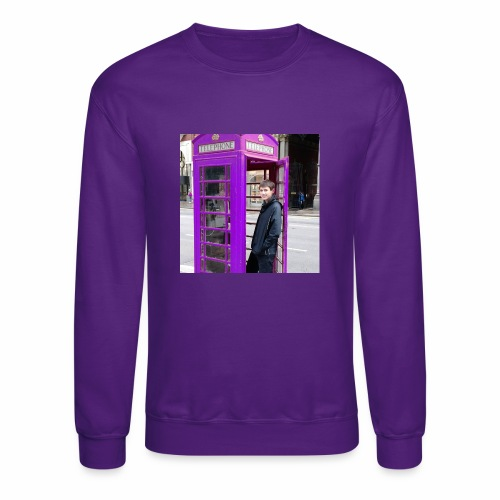 Sean in England Purple - Unisex Crewneck Sweatshirt